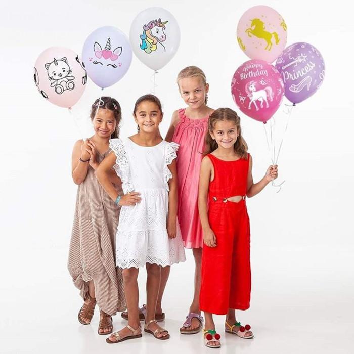 Lateksballonger med trykk
