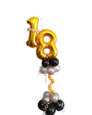 Borddekorasjon: Happy 18th birthday