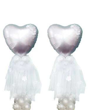 Borddekorasjon: Ballerina heart centerpiece