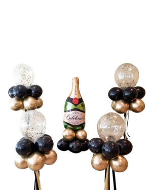 Borddekorasjon: Celebrate with bubbles