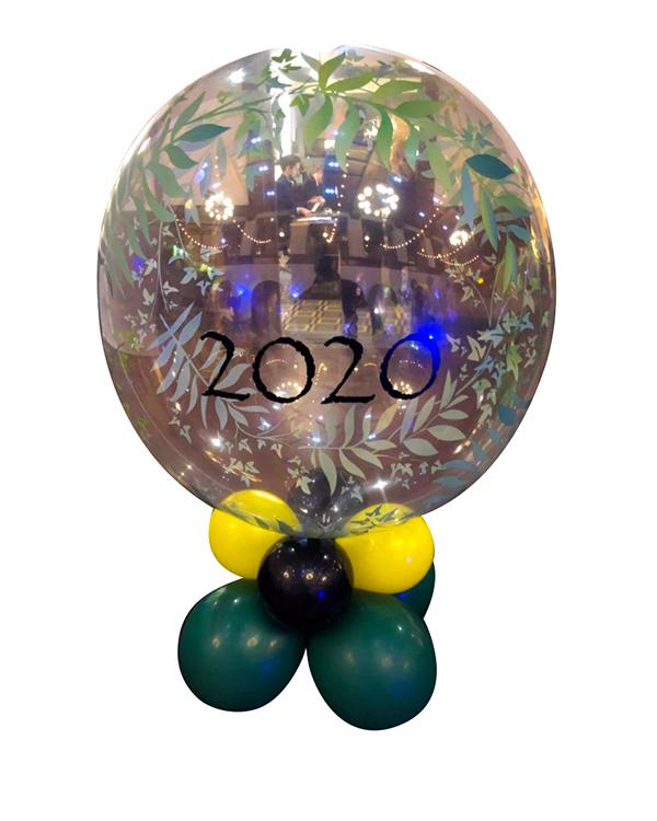 Borddekorasjon: Tropical bubble centerpiece