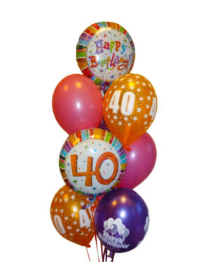 Ballongbukett: So Happy 40!