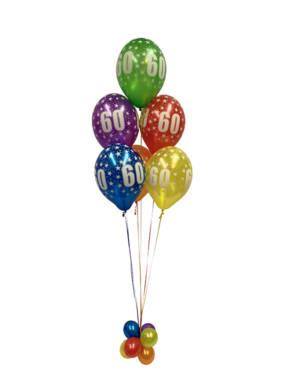 "Ballongbukett: Tall Regnbue - ""60"""