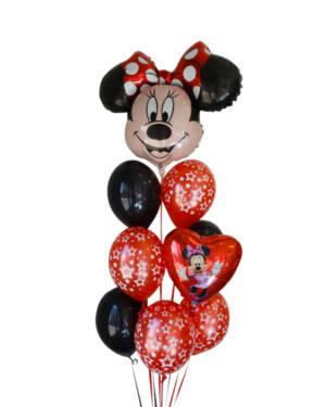 Ballongbukett: Minnie - Svart