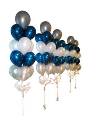 Ballongbukett: Midnight Blue