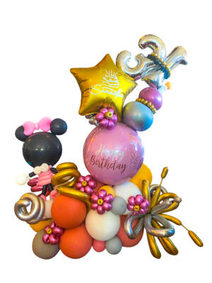 Organisk ballongbukett: Pink birthday dream