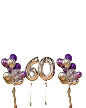 Ballongbukett: Sexy Sixty