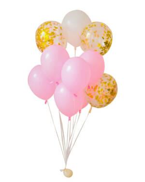 Ballongbukett: Pastel pamper bundle