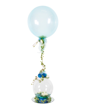 Jumbo ballong: Flowering blue Lily Bubble