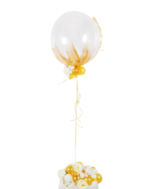 Jumbo ballong: Classy with a little splash of gold
