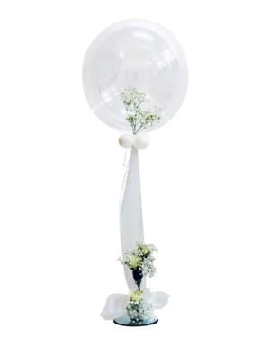 Jumbo ballong: White Rose Bubble