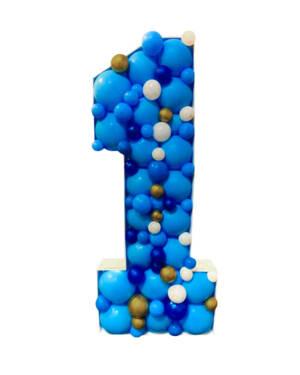 Mosaikk tall: Blå
