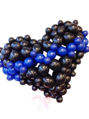 Bubble Heart: Svart & Mørk blå