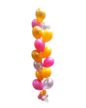 Ballongsøyle: Oransje og Rosa