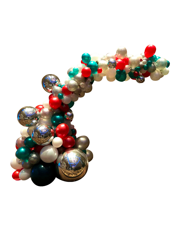 Organisk bue / klase: Christmas orb arch