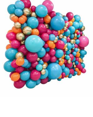 Ballongvegg / Backdrop: Skittles wall