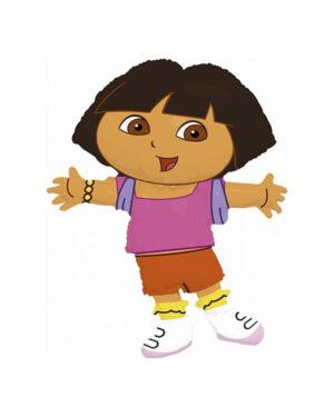 "Folieballong: ""Dora figur"" - 81 x 64cm"