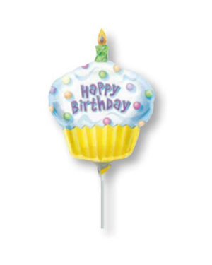 Folieballong: Happy Birthday Cupcake - 35cm