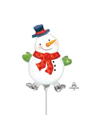 Folieballong: Snømannen Snowiee - 25cm