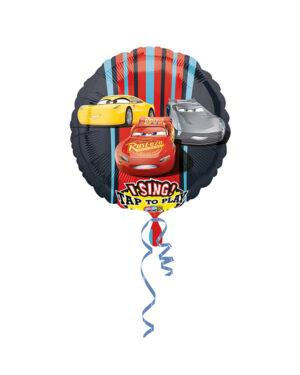 Syngende Folieballong / Folieballong med musikk: Cars 3 - 71cm
