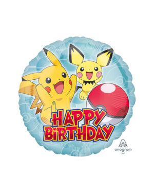 "Folieballong: ""Happy Birthday"" Pokemon - 43cm"