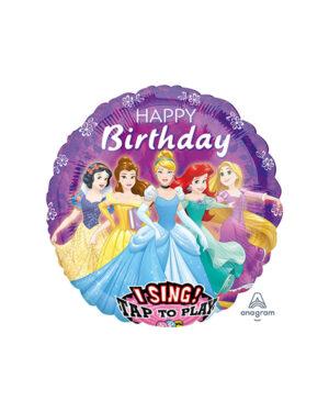 Syngende Folieballong / Folieballong med musikk: Disney Prinsesse - 71cm