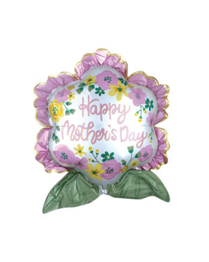 """Folieballong: """"Happy Mother's Day"""" Satin Infused Flower - 63cm x 68cm"""