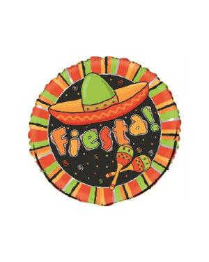 """Folieballong: """"Fiesta"""" - 45cm"""