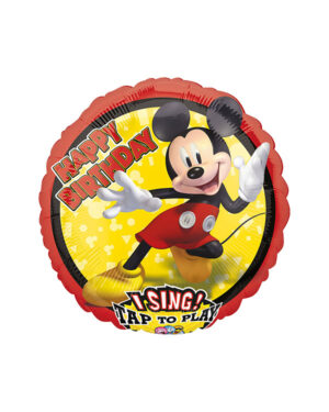 """Syngende Folieballong / Folieballong med musikk: """"Happy Birthday"""" Mikke - 71cm"""