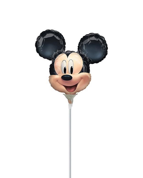 Folieballong: Mikke Mus Hode - Liten størrelse