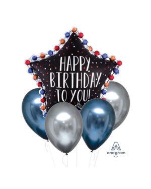 "Ballongbukett: ""Happy Birthday To You"" - Satin Luxe Infused Star"