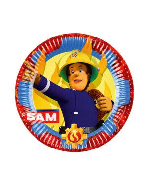 Tallerkener (8stk): Brannman Sam - 22,8cm