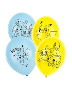 Lateksballonger (6stk): Pokemon - 27,5cm