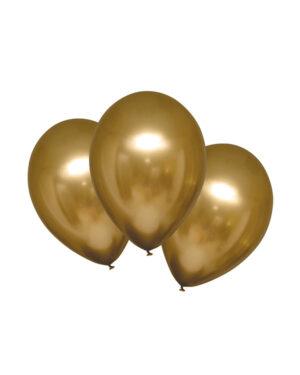 Lateksballonger (6stk): Satin Luxe Gold Sateen - 27,5cm