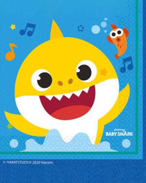 Servietter (16stk): Baby Shark - 16,5cm