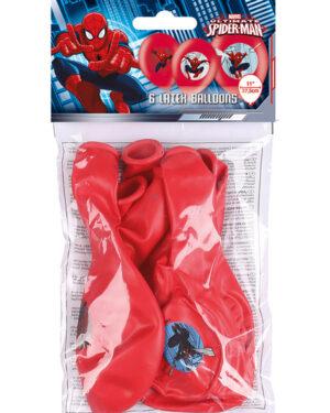 Lateksballonger (6stk): Spider-Man - 27,5cm