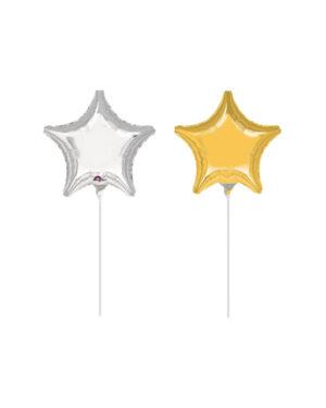 Folieballong: Stjerne - 10cm