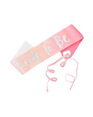 "Ordensbånd / Sash: ""Bride to Be"" - Rosa"