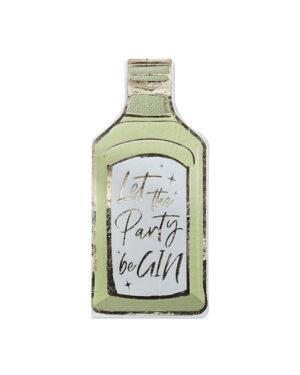 "Servietter (12stk): Flaskeformet - ""Let The Party beGIN"""