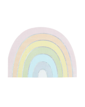 Servietter (16stk): Halvsirkel - Regnbue - 17 x 12cm