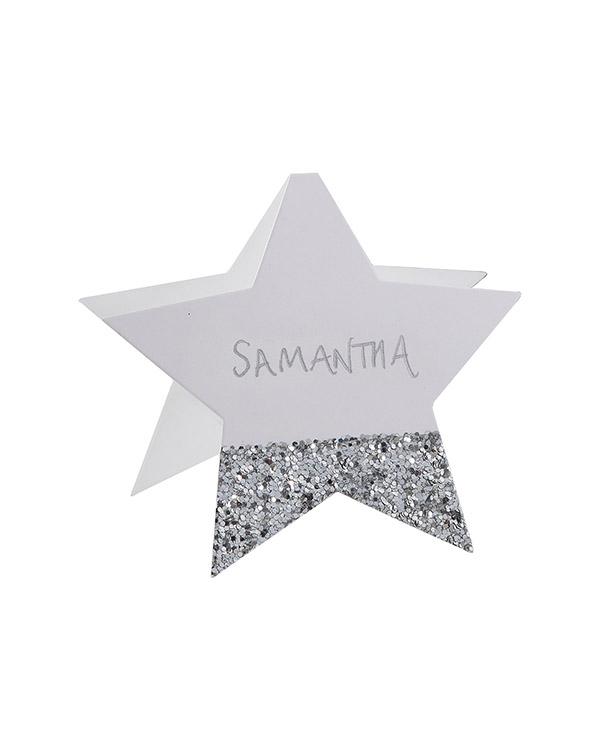 Bordkort (6stk): Stjerne - 10cm