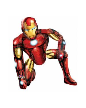 Folieballong: Gående Iron Man - 116 x 93cm