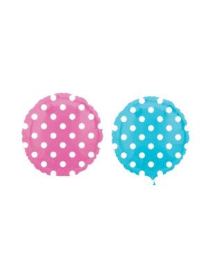 Folieballong: Sirkel med prikker - 43cm