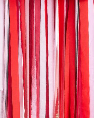 Backdrop / Streamere: Rosegull, Rød & Rosa - 1m