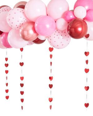 Ballongbue: Rosegull, rosa & Rød - Gjør-det-selv (DIY) sett