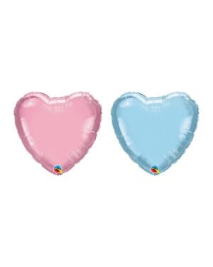 Folieballong: Hjerte (Perlefarget)- 10cm