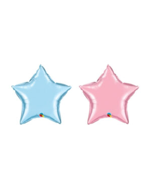 Folieballong: Stjerne (Perlefarget) - 10cm