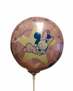 Folieballong: Minni Mus - It's a Girl - Liten