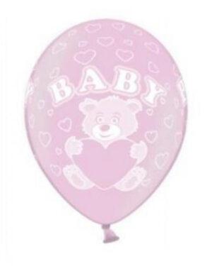 """Lateksballonger (50stk): """"Baby"""" - Pink - 30cm"""
