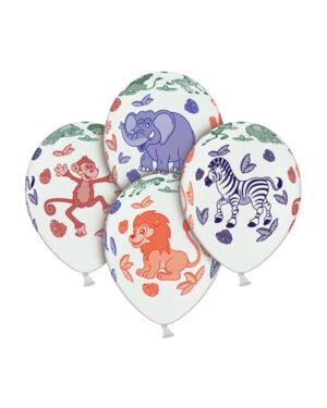 Lateksballong: Animals & Leafs - 30cm - Per stk